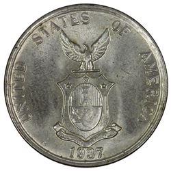 Philippines 1937 M 'Commonwealth' 20 Centavos, Brilliant Gem