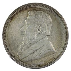 South Africa (ZAR) 1897 2 Shillings, good Extremely Fine  (edge nick)