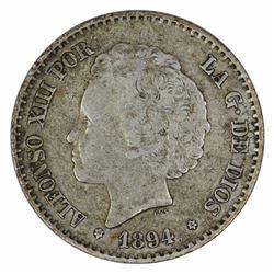 Spain 1894 50 Cent, good Very Fine
