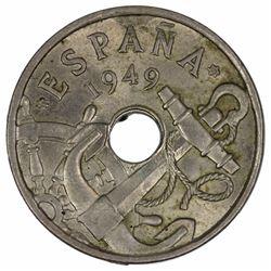 Spain 1949 (53) 50 Centimos, near Gem