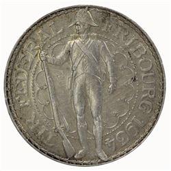 Switzerland - Fribourg 1934 B 5 Francs, good Extremely Fine