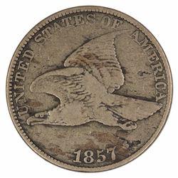 USA 1857 Cent, good Fine