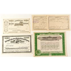 California Railroad & Stage Stock Certificates & Ephemera