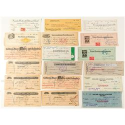 California Railroad Check Collection