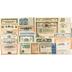 Chicago Railroad Bond & Stock Certificate Collection