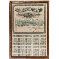 New Bedford Railroad Company Bond (1876) (Framed)