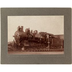 Northern Pacific Railroad Engine and Crew Photograph (Missoula, Montana)