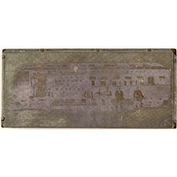 Newspaper Photo Stamp Block for Nevada Central Railroad