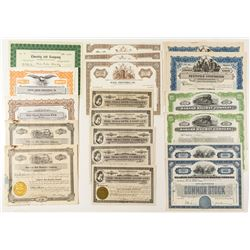 Group of Railroad & Non-Mining Stock Certificates