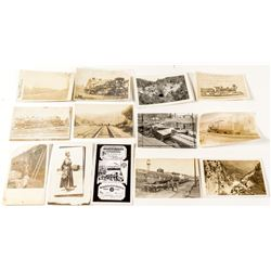 Miscellaneous Train & Depot Postcards including Real Photo