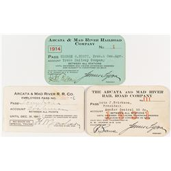 Arcata & Mad River Railroad Company Annual Passes