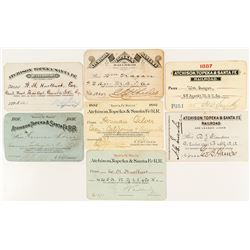 Atchison, Topeka and Santa Fe Railroad Passes (1880s-1890s)