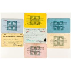 Atchison, Topeka and Santa Fe Railway System Pass Collection