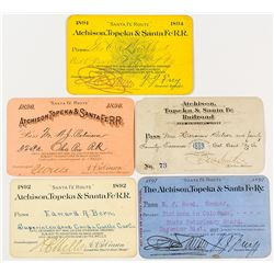 Atchison, Topeka and Santa Fe Railway System Passes (1880s-1890s)