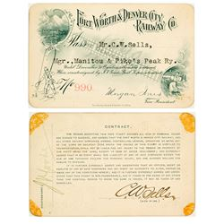 Fort Worth & Denver City Railway Co. Annual Pass (1898)