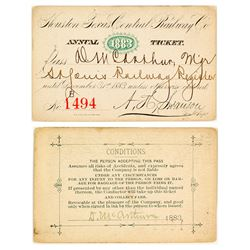 Houston & Texas Central Railroad Annual Pass (1883)