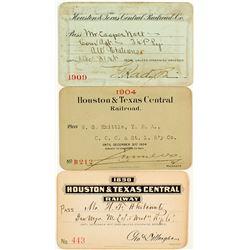 Houston & Texas Central Railroad Annual Pass Trio