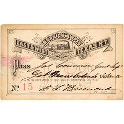 Houston East & West Texas Railway Co. Annual Pass (1882)