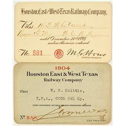 Houston, East & West Texas Railway Co. Annual Passes
