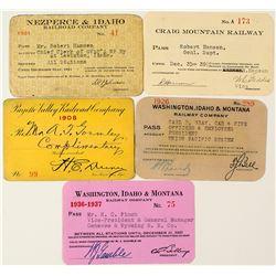 Idaho Railroads Annual Pass Collection (5)