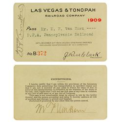 Las Vegas & Tonopah Railroad Company Pass (1909)
