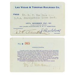 Las Vegas & Tonopah Railroad Company Pass (1911)