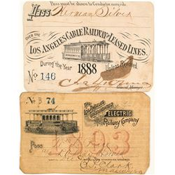 Los Angeles Electric Railroad Annual Passes (1888 & 1893)
