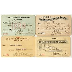 Los Angeles Terminal Railway Annual Pass Collection