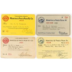 Manitou & Pike's Peak Railway Co. Pass Collection