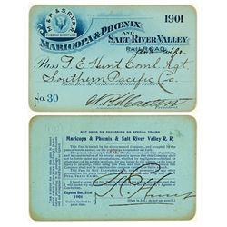 Maricopa & Phoenix and Salt River Valley Railroad Pass (1901)