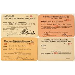 Midland Terminal Railway Co. Annual Pass Collection