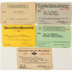 Midland Valley Railroad Co. Annual Pass Collection