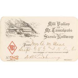 Mill Valley & Mt. Tamalpais Scenic Railway Pass (1902)