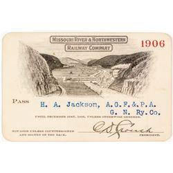 Missouri River & Northwestern Railway Co. Annual Pass (1906)