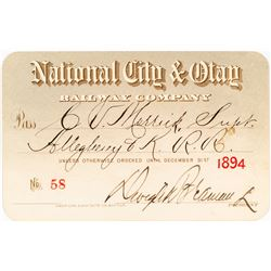 National City & Otay Railway Annual Pass (1894)