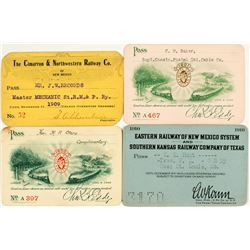 New Mexico Railroads Pass Collection