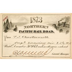 Northern Pacific Railroad Annual Pass (1873)