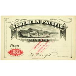 Northern Pacific Railroad Annual Pass (1883) - Specimen