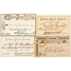 Northern Pacific Railroad Annual Pass Collection (1870s)