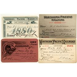 Northern Pacific Railroad Annual Passes (1880s)