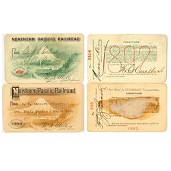 Northern Pacific Railroad Pictorial Annual Passes (1892 & 1893)
