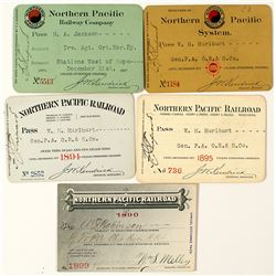 Northern Pacific Railway Co. Pass Collection (1890s)