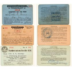 Northwestern Pacific Railroad Pass Collection (3)