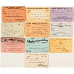 Oregon & Washington Railroad Pass Collection