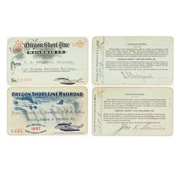 Oregon Short Line Railroad Co. Annual Passes (1890s)