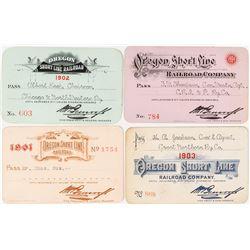 Oregon Short-Line Railroad Co. Pass Set (1901-1904)
