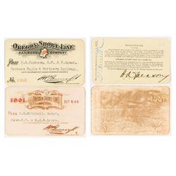 Oregon Short-Line Railroad Co. Passes (1900 & 1901)