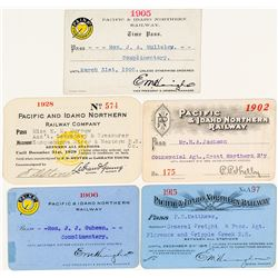 Pacific & Idaho Northern Railway Pass Collection