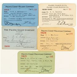 Pacific Coast Railroad Co. Pass Collection