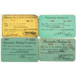 Peninsular Railway Company Annual Pass Collection